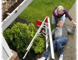 clean gutters safely in Calgary